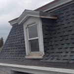 Roof with shingles with window