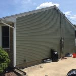 Green siding on home
